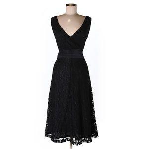 Black Lace Dress, V-Neck